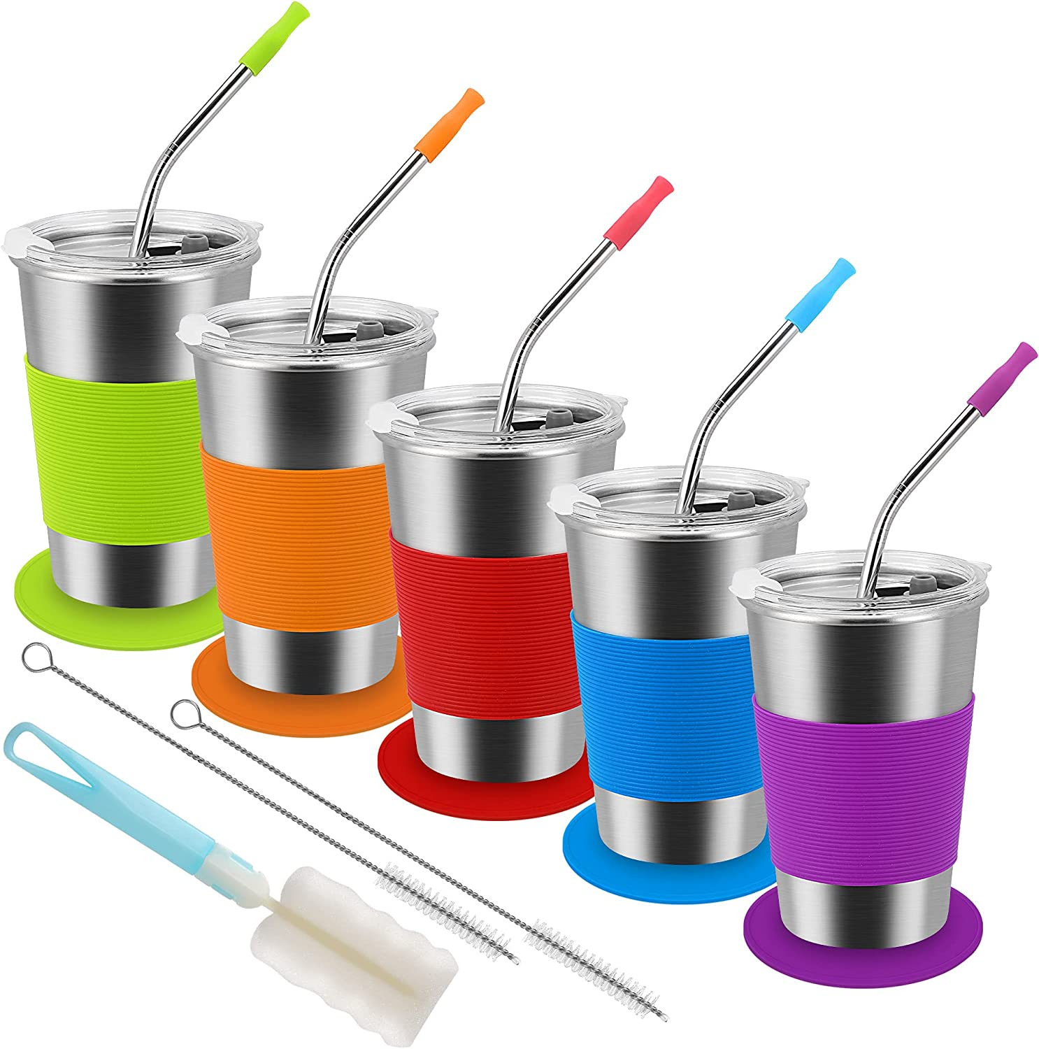 Uarzt Kids Cups with Straws Lids Sippy Fashion lowest price and Toddler 5-Pack