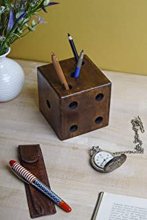 GoCraft Pen & Pencil Holder, Unique Dice Design Desk Pen & Pencil Organizer