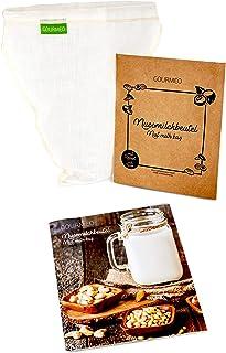GOURMEO Nussmilchbeutel aus natürlicher Hanffaser V-förmig, für vegane Nussmilch &..