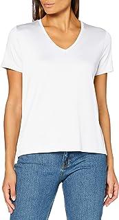 Scotch & Soda dames t-shirt Regular fit v-neck tee in Tencel quality
