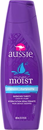 aussie Moist保湿洗发水 13.5液体盎司(6瓶装)