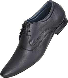 Emosis Men's Formal Shoes - Synthetic Leather Derby Lace-Up - for Office Daily Use - Available in Tan Brown Black Color - 294M