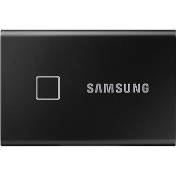 Samsung T7 Touch Portable SSD - 500 GB - USB 3.2 Gen.2 Externe SSD Metallic Black (MU-PC500K/WW)