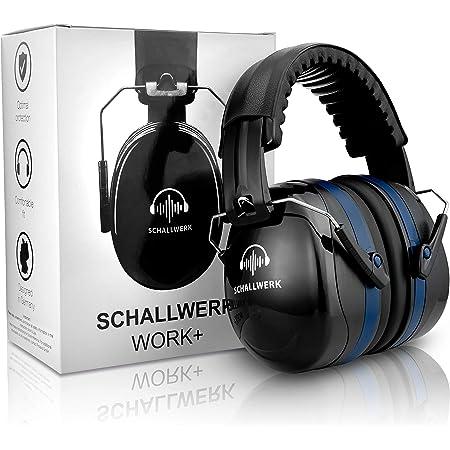 SCHALLWERK ® Work+ cuffie antirumore – Cuffie insonorizzanti regolabili – Attenua i rumori e protegge l'udito – Ideale sul lavoro e nella vita quotidiana