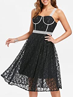 DRESSFO Casual A Line Dress For Women