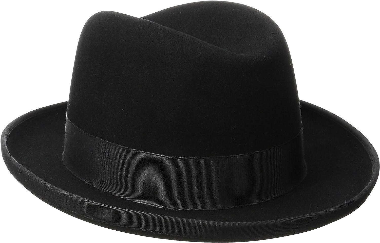 Stetson Men S Homburg Royal Deluxe Fur Felt Hat At Amazon Men S Clothing Store Homburg hats at village hats. stetson men s homburg royal deluxe fur felt hat