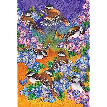 Amazon Com Toland Home Garden Bluebird Blossoms 28 X 40 Inch Decorative Colorful Blue Bird Spring Summer Flower Welcome House Flag Garden Outdoor