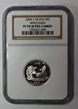 2004 S Wisconsin Silver State Quarter 25c PF70UCAM NGC