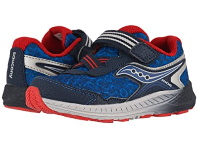 Saucony Kids Ride 10 Jr (Toddler/Little Kid) (Navy/Red) Boys Shoes