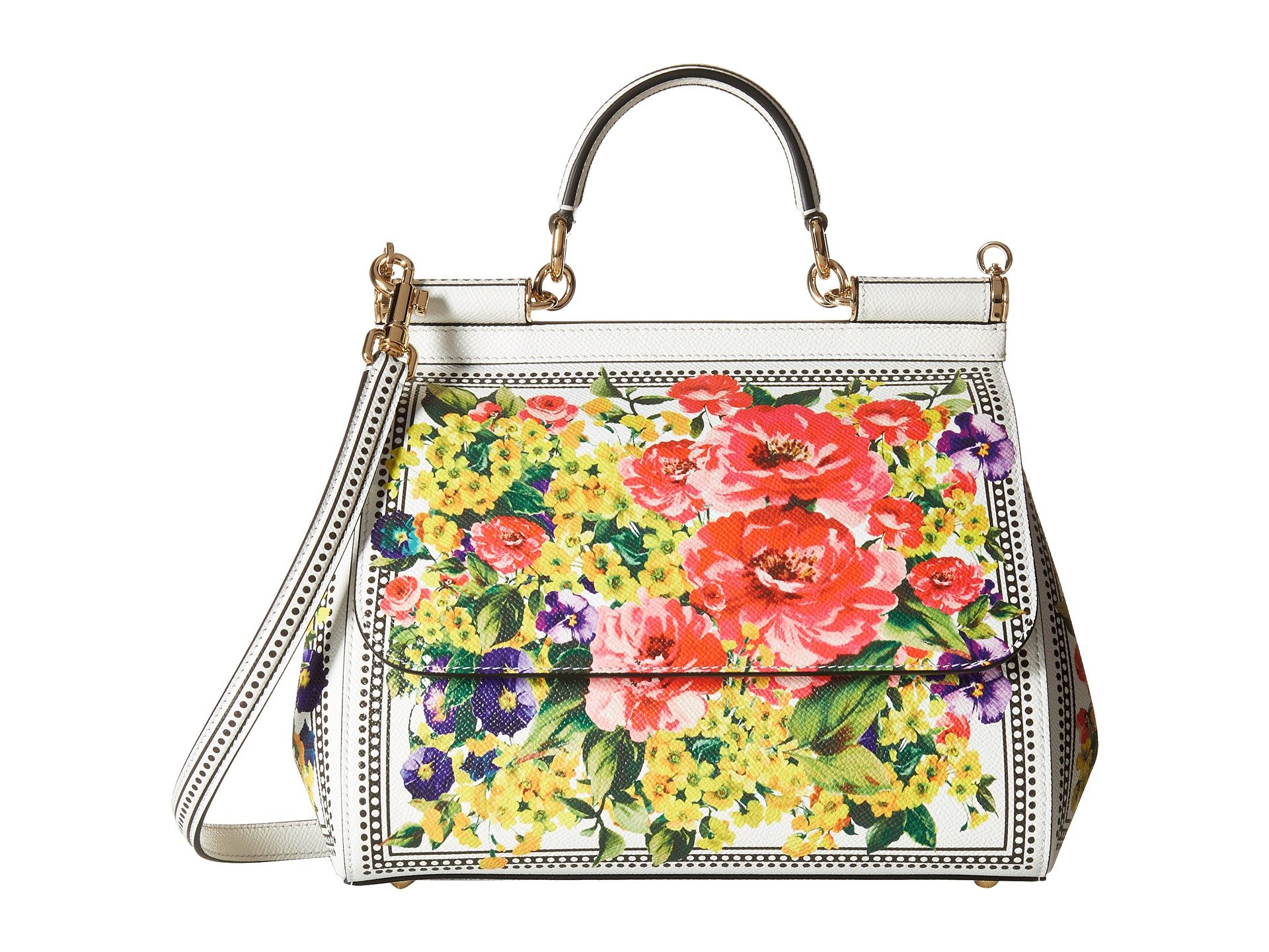 Bolso tipo Satchel para Mujer Dolce and Gabbana Floral Printed Sicily Bag  + Dolce & Gabbana en VeoyCompro.net