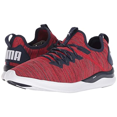 PUMA Ignite Flash evoKNIT (Ribbon Red/Peacoat) Men