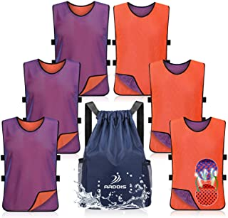 ARDDIS 6 Pack Pinnies Double Sided Mesh Scrimmage...