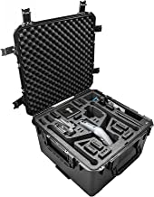 CasePro CP-DJI-Inspire-2 Wheeled Hard Case Landing Mode, Black