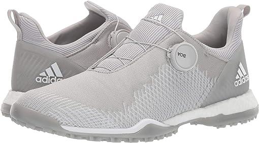 Grey Two/Footwear White/Silver Metallic
