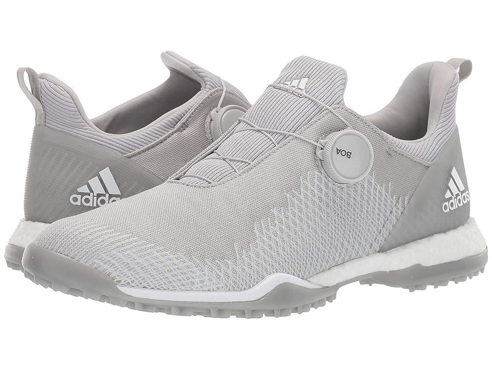 adidas Golf Forgefiber Boa (Grey Two/Footwear White/Silver Metallic) Women