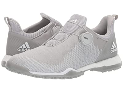 adidas Golf Forgefiber Boa (Grey Two/Footwear White/Silver Metallic) Women