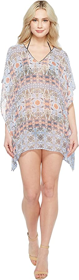 Tile Terrace V-Neck Tunic Cover-Up