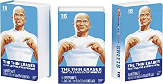Mr. Clean Magic Eraser Sheets, 3 Packs of 16 Sheets, 48 Count