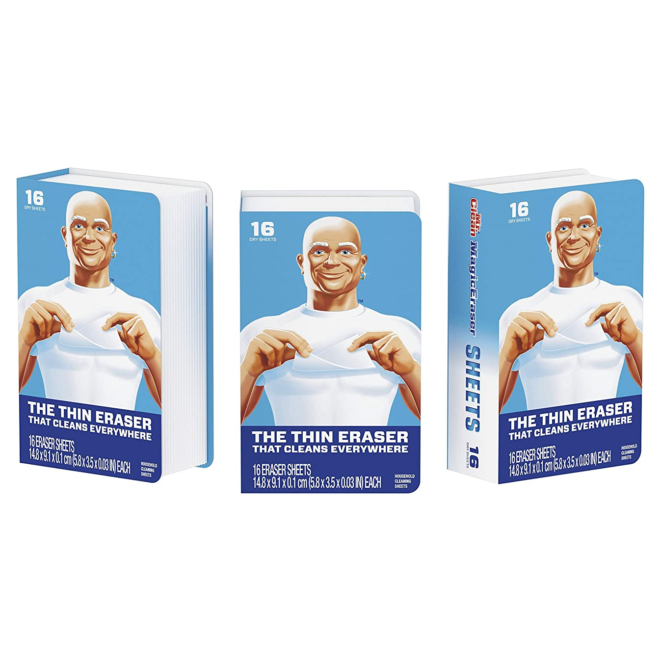 Mr. Clean Magic Eraser?Cleaning Sheets, 3 Packs of 16 Sheets, 48 Count