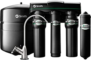 AO Smith 4-Stage Reverse Osmosis Water Filter System With Microbial Boost - NSF Certified - Brushed Nickel Faucet