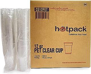 Hotpack 12 Oz Pet Clear Juice Cup 91 Diameter Disposable for Plastic Party Cups, 1000 Pieces 1000 Units
