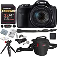 Canon PowerShot SX540 HS with 50x Optical Zoom and Built-in Wi-Fi, Polaroid 32 GB U3 Memory Card,...