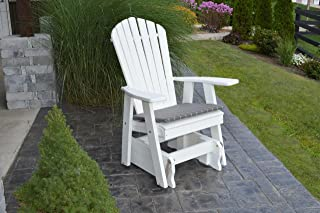 Outdoor Poly Adirondack Gliding Chair - Bright White