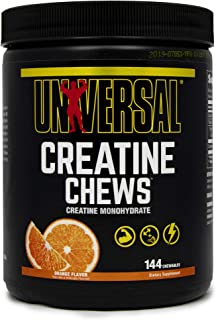 Universal Nutrition Creatine Chews - 5g of Creatine Monohydrate in Each Serving Delicious Wafers - 36 Servings - Orange