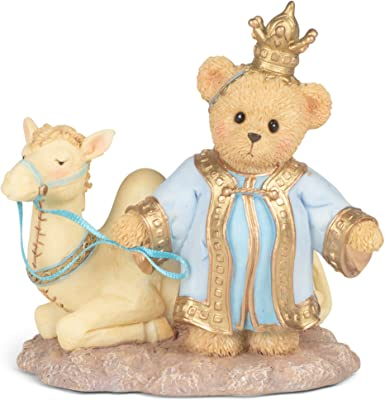 Roman 133484 Bear King with Camel for Nativity Cherished Figurine, 4.5 inch, Multicolor