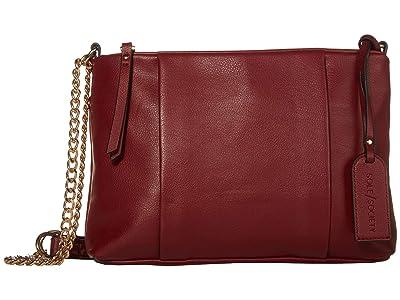 SOLE / SOCIETY Fayth Crossbody (Dark Red) Handbags