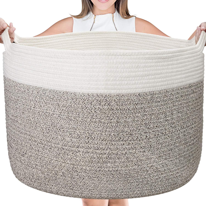 Large Cotton Rope Basket - 22