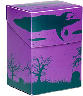 Stratagem The Big Box Card Deck Box with Divider, Fright Night - Oversized Deck Box for 60-Card Deck Plus More - Card Deck Boxes for Magic The Gathering, Pokemon, Yugioh! & Sleeved or Unsleeved Cards