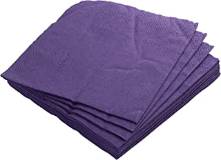 Exquisite 300 Pack of Beverage Paper Napkins The 2 Ply Party Napkins are Highly Absorbent and Available in a Wide Range of Vibrant Colors - Purple Napkins