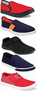 WORLD WEAR FOOTWEAR Sports Running Shoes/Casual/Sneakers/Loafers Shoes for Men Multicolor (Combo-(5)-1219-1221-1140-383-1017)