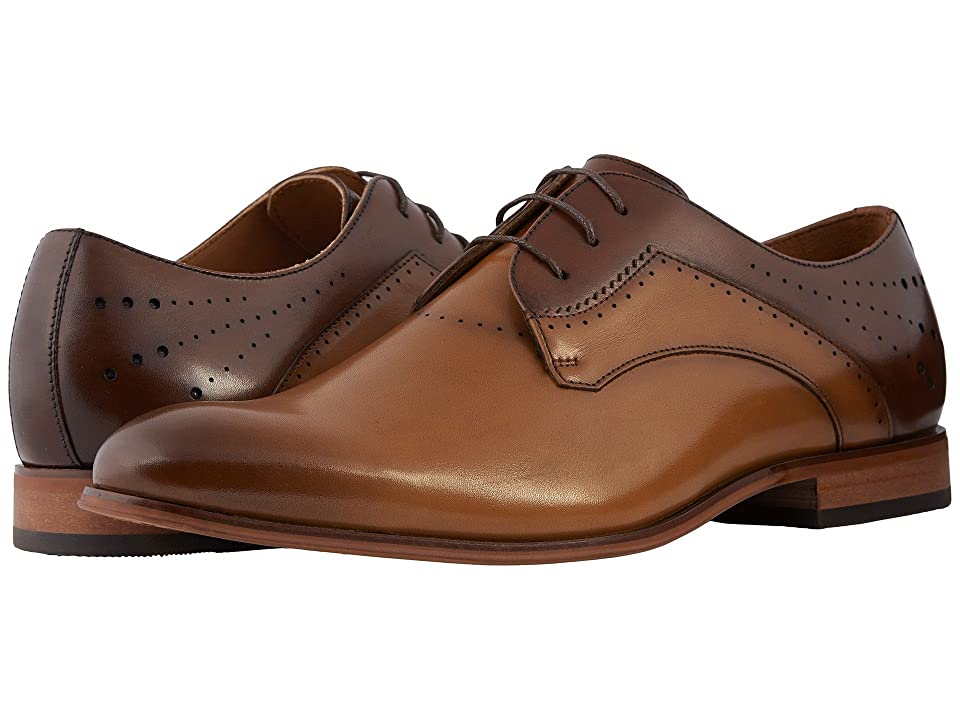 Stacy Adams Savion Plain Toe Oxford (Cognac/Burgundy/Tan) Men