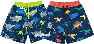 Sponsored Ad - maoo garden Boys Swim Trunks Quick Dry Beach Board Shorts Mesh Lining UPF 50+ Swimwear 2 Pack