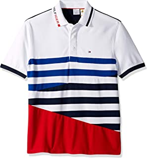 75f3bdf8c Tommy Hilfiger Men s Adaptive Polo Shirt with Magnetic Buttons Custom Fit
