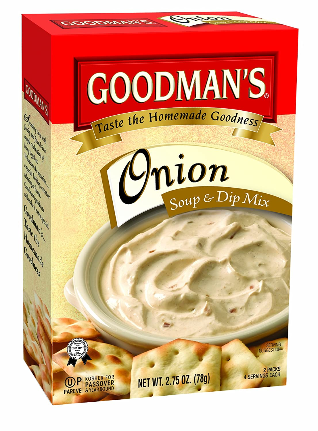 Goodman's Onion Soup Dip Over item handling Mix mart 24 Pack of 2.75-ounce