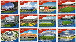 PANINI WORLD CUP 2018 STICKERS - ALL TWELVE (12) STADIUM & CITIES STICKERS - #8 - #19