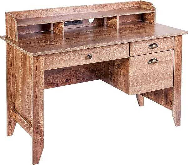 OneSpace 50 1617CO Eleanor Executive Desk Classic Oak