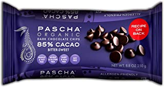 Pascha Organic Bitter-Sweet Chocolate Baking Chips 85% Cacao, 8.8 Ounce (Pack of 6)