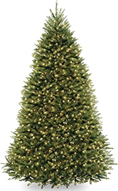 National Tree Dunhill Fir Tree with Dual Color LED Lights , 9 Feet