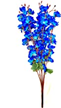 Badshah Gift Centre Artificial Flower Blossom Bunch for Home (7 Heads, 25x25x55 cm, Blue)
