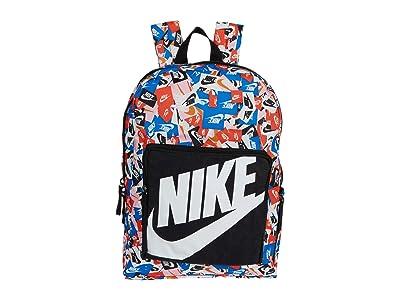 Nike Kids Classic All Over Print Backpack (Little Kids/Big Kids) (Black/Black/White) Backpack Bags