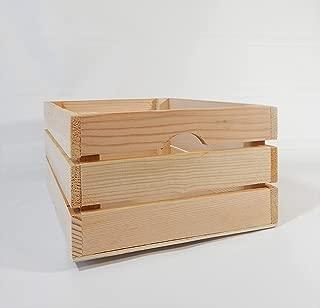 At Home on Main Handmade Rustic Crates (Medium) (Natural)