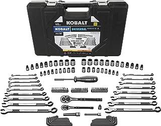 Kobalt Universal 115-Piece Standard (SAE) and Metric Mechanic's Tool Set with Hard Case