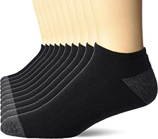 Amazon Essentials Men's 10-Pack Cotton Half Cushioned No-Show Socks