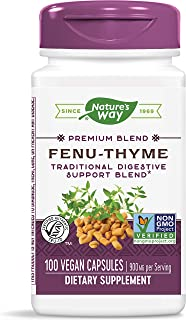 Nature's Way Fenu-Thyme, 900 mg per Serving, 100 Capsules (Packaging May Vary)