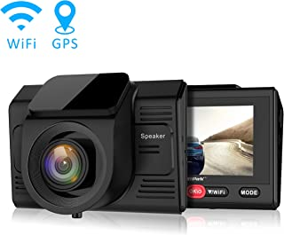 Máy thâu hình đặt trên xe ô tô – Campark Dash Cam with GPS Logger and Wifi Full HD 1080P Car/Vehicle Driving Video Camera,Wide Angle,2.45″ LCD,Motion Detection,Parking Monitor