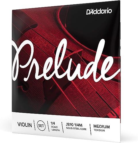 D'Addario Bowed Jeu de cordes pour violon D'Addario Prelude, manche 1/4, tension Medium